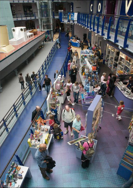 Visitors in Discovery Museum