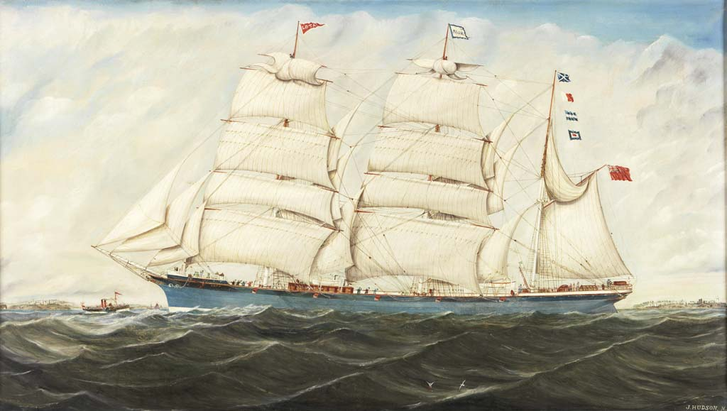 Painting of the barque LOTA by John Hudson – B9432'