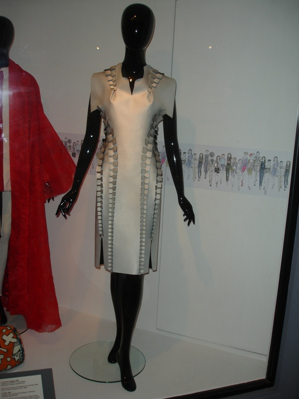 Ivory dress from the front