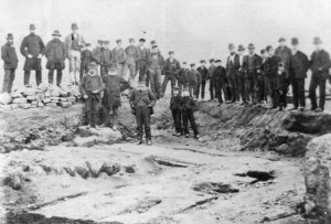 The 1875 excavation of the headquarters building