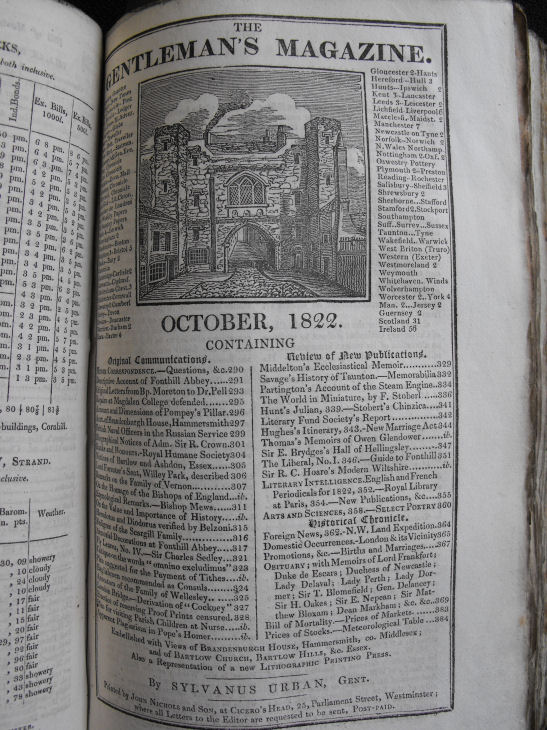 The Gentleman's magazine, October 1822 From the library of the Society of Antiquaries of Newcastle upon Tyne