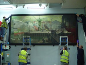 Fitting the larger paintings in the new Northern Spirit Gallery