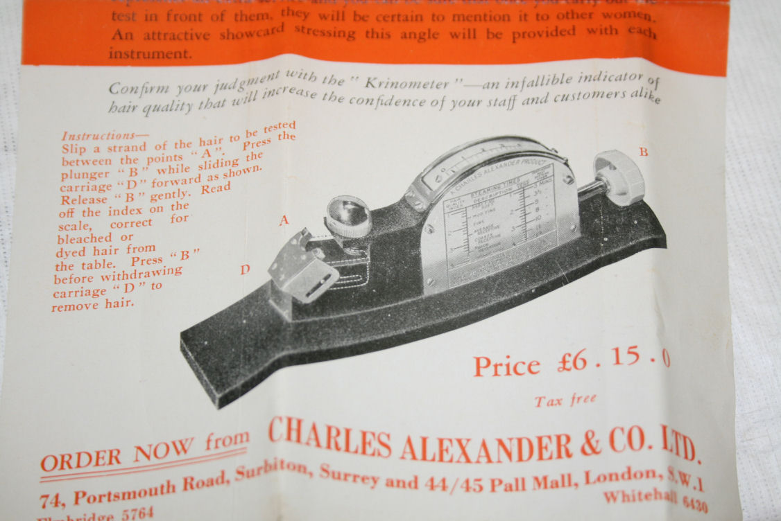 Instruction leaflet