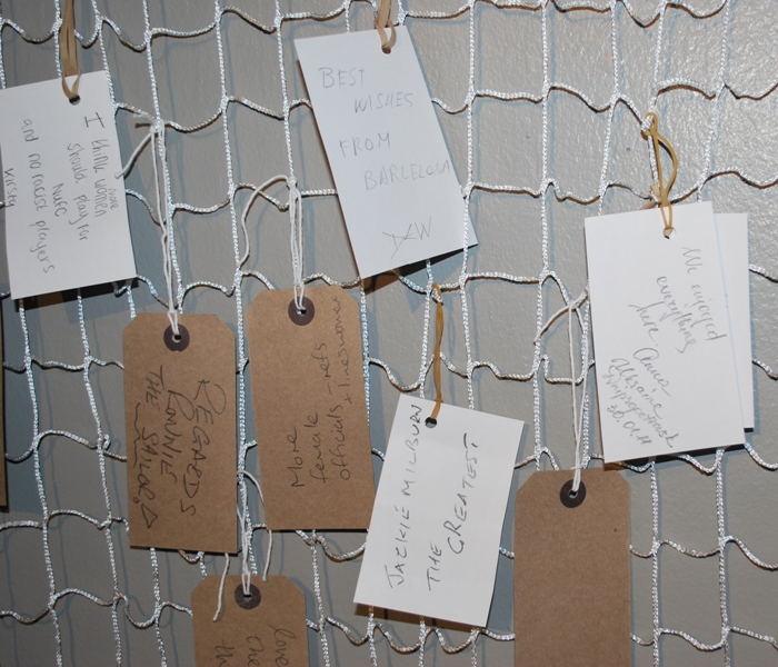 Comments left by the public in the gallery