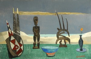 Fred Uhlman - Still Life with African Figures