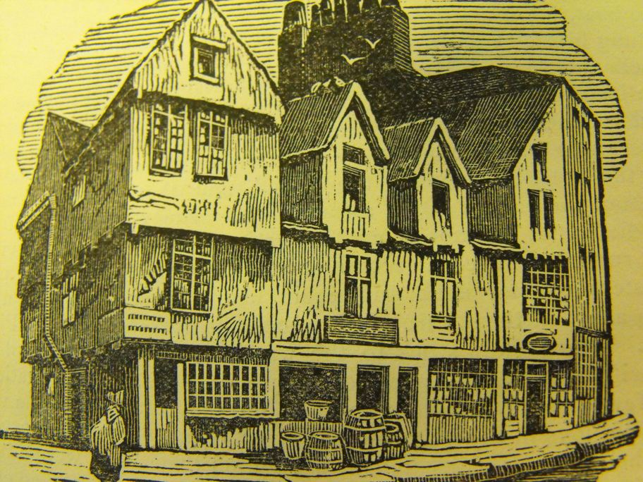 Old houses, head of Middle Street (vol. for 1867, p.97)