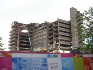 Car park demolition