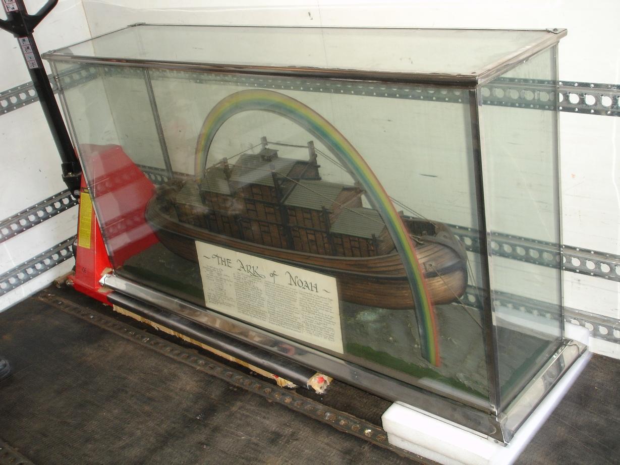 Noah's Ark model on the van