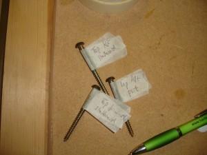 Labelled case parts