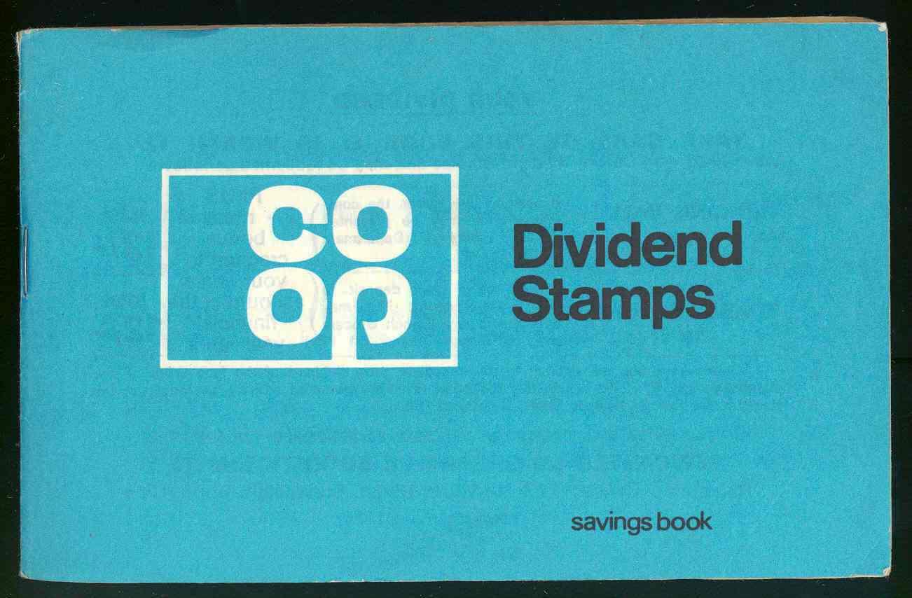 Co-op dividend stamps booklet, 1960s. TWCMS : 2000.3030.6