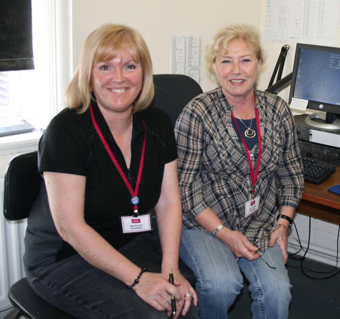 South Shields Museum volunteers Wendy (L) and Jean (R)