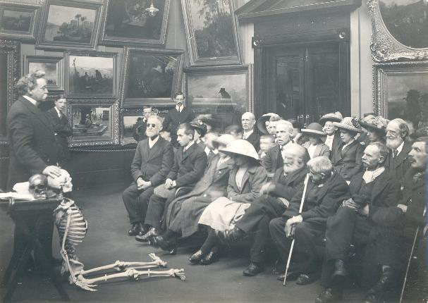 1913 Blind adults at Sunderland Museum