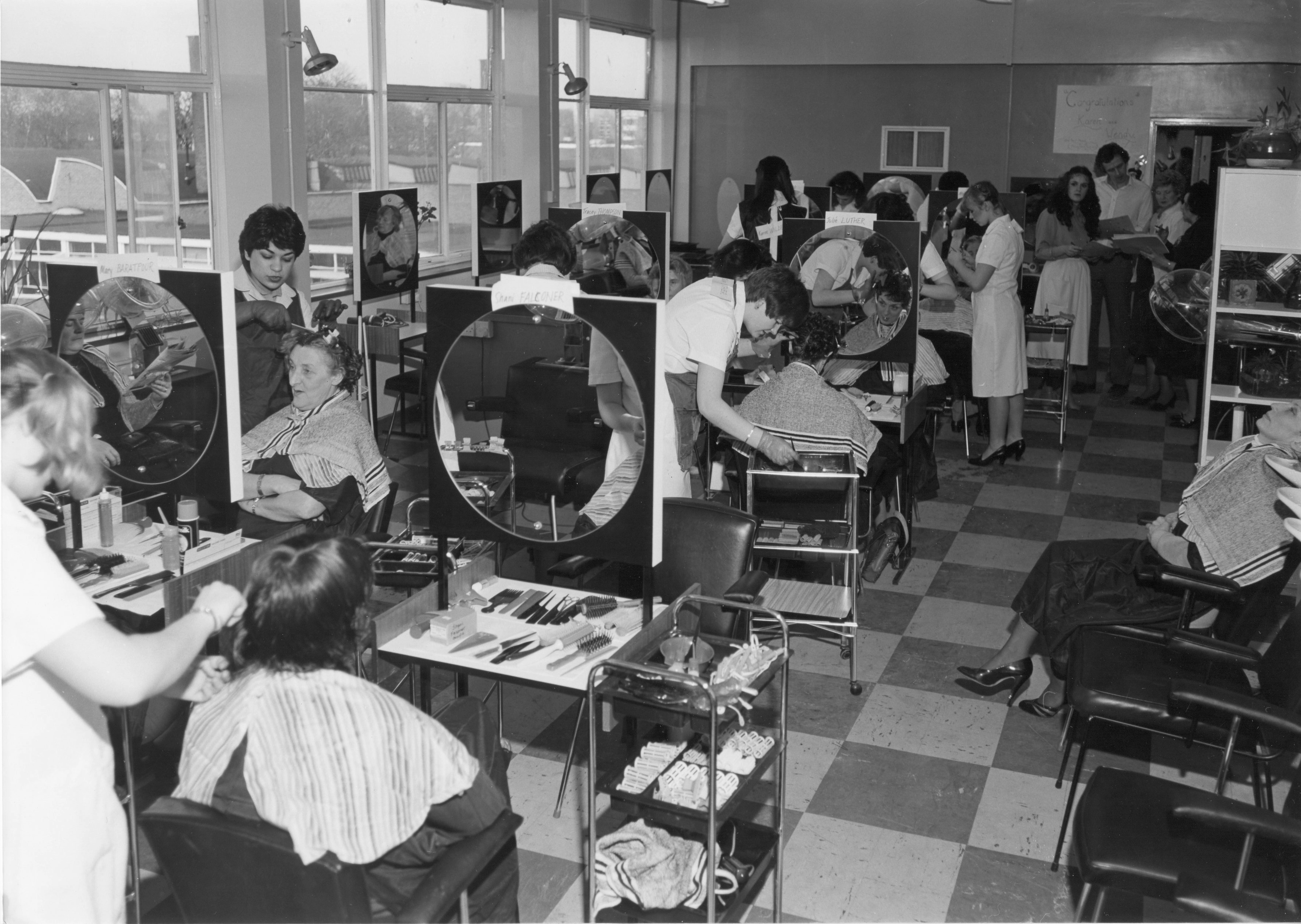 Hairdressing salon at South Shields Marine and Technical College