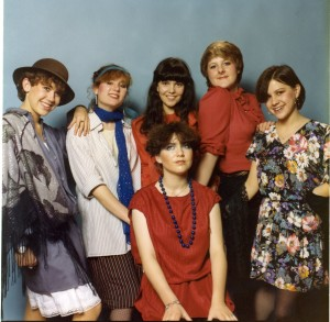 Fashionably dressed students at South Shields Marine and Technical College, 1980s