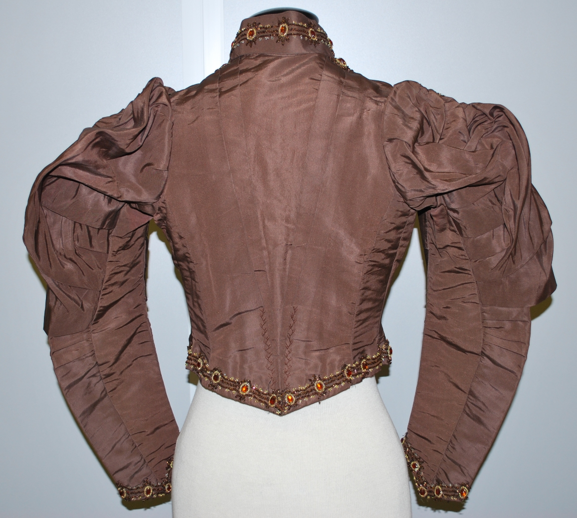 Back of wedding suit jacket c.1880s