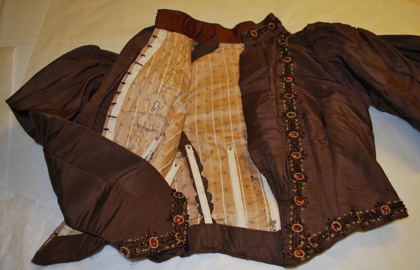 1880s wedding jacket lining