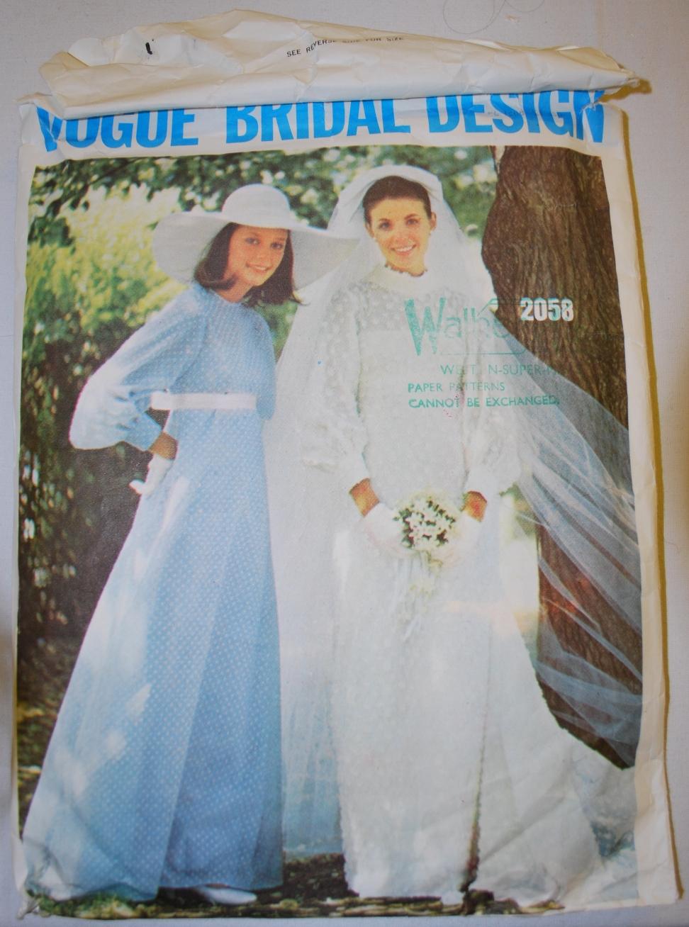 1960s Vogue bridal design