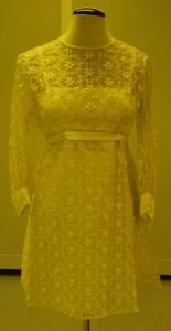 2014 enticing one shoulder empire waist floor length hot selling bridesmaid cream wedding dress