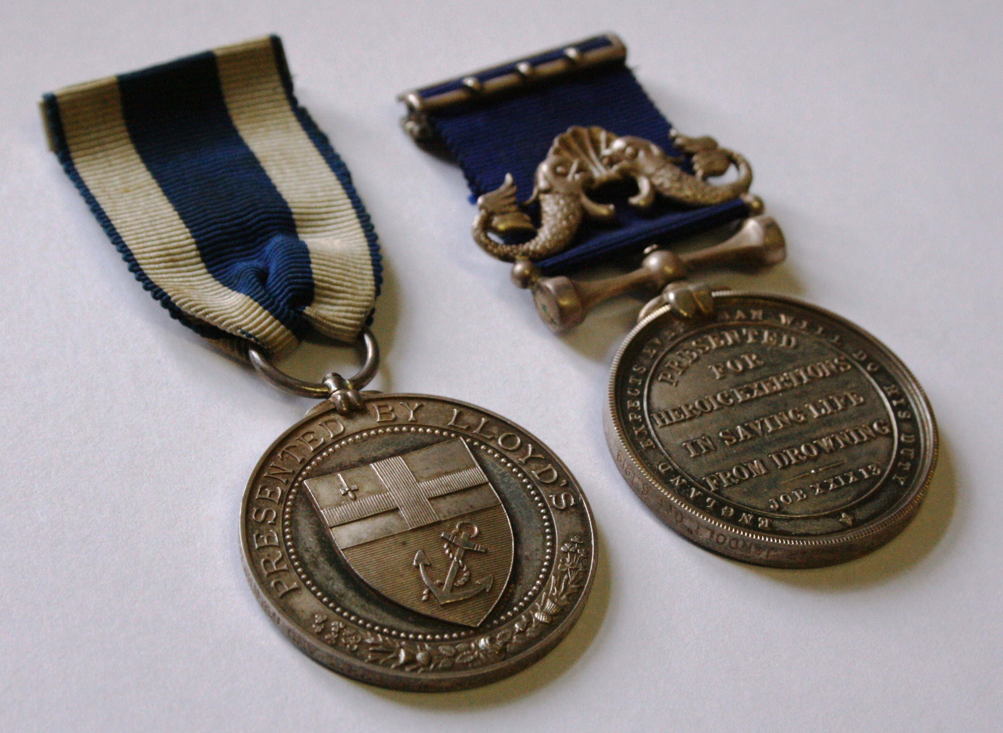 Medals awarded to Maurice Mackay