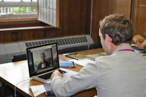Skype Test with Mr Fladd in the United States