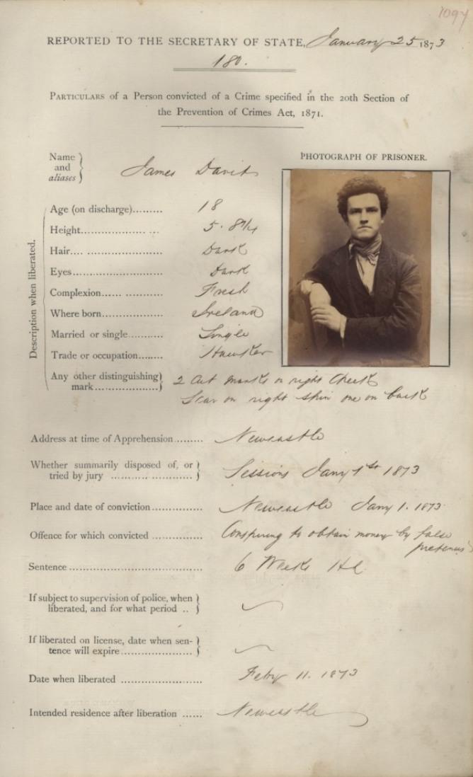 James Davit, Newcastle Victorian Criminal