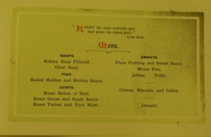 1924 Christmas menu TWCMS: 2011.1414