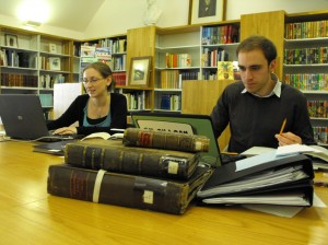 Cataloguing work in progress in the Great North Museum Library