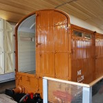 The covered carriage truck at the docking bay end. This will be the entrance to the displays insiide the wagon.