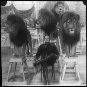 Man surrounded by Lions!
