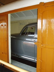 As it will be seen by visitors outside of the wagon through one of the side doors.