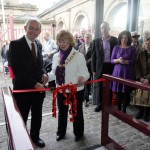 Former MP for Sunderland and Chair of the Heritage Lottery Fund's North East Committee Chris Mullen and Mayor of Sunderland, Councillor Norma Wright cut the ribbon to officially open the Wagon Shed at Monkwearmouth Station Museum.