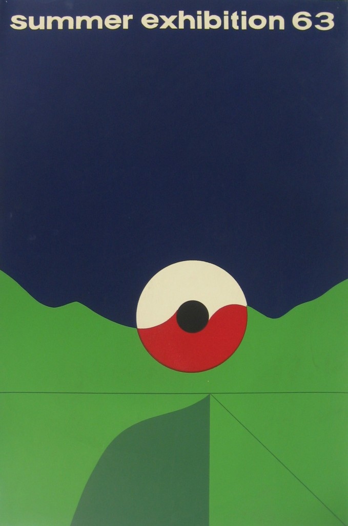 Poster for a 1963 student summer exhibition