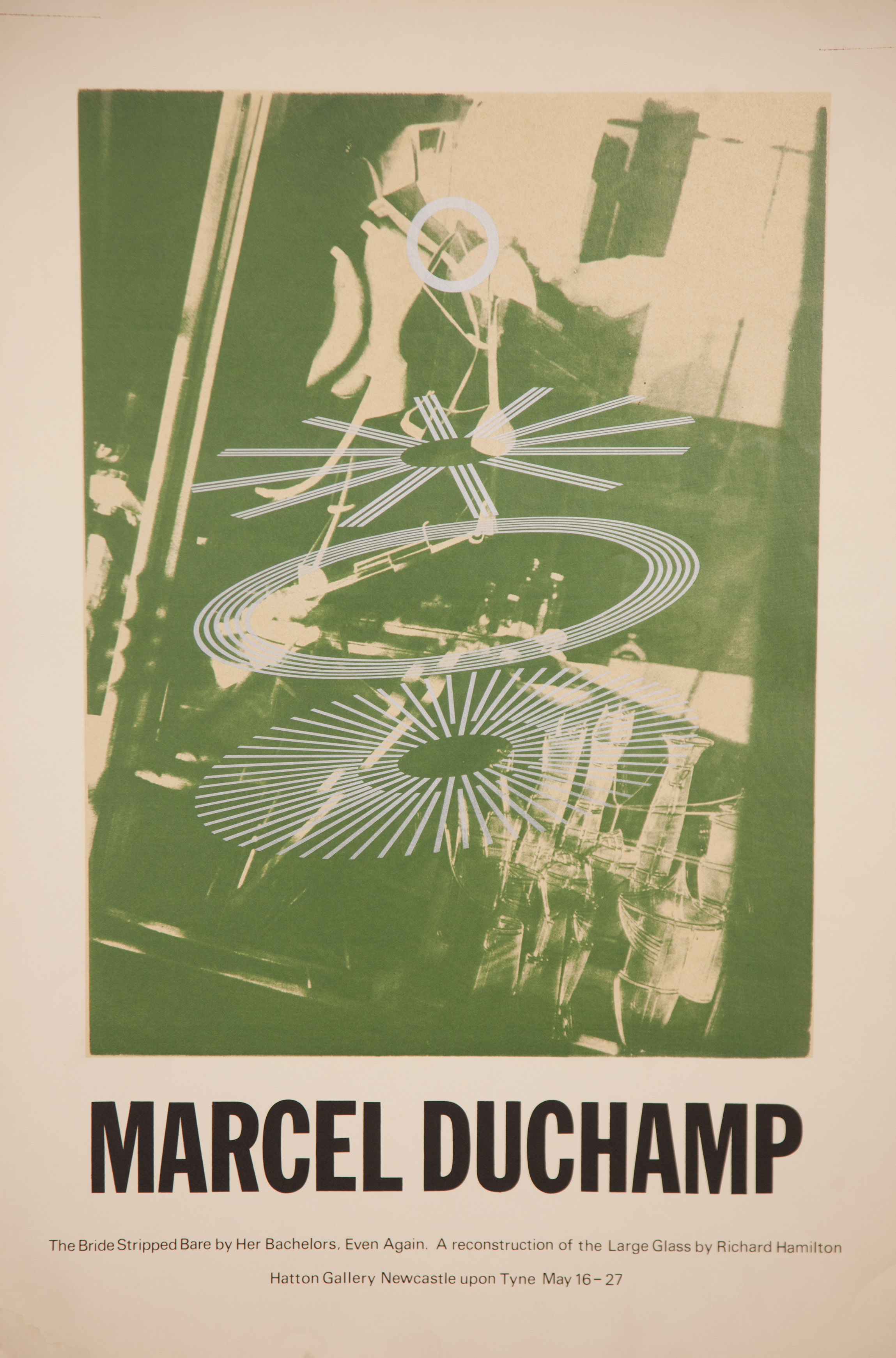Richard Hamilton's poster for his recreation of Marcel Duchamp's 'Large Glass'