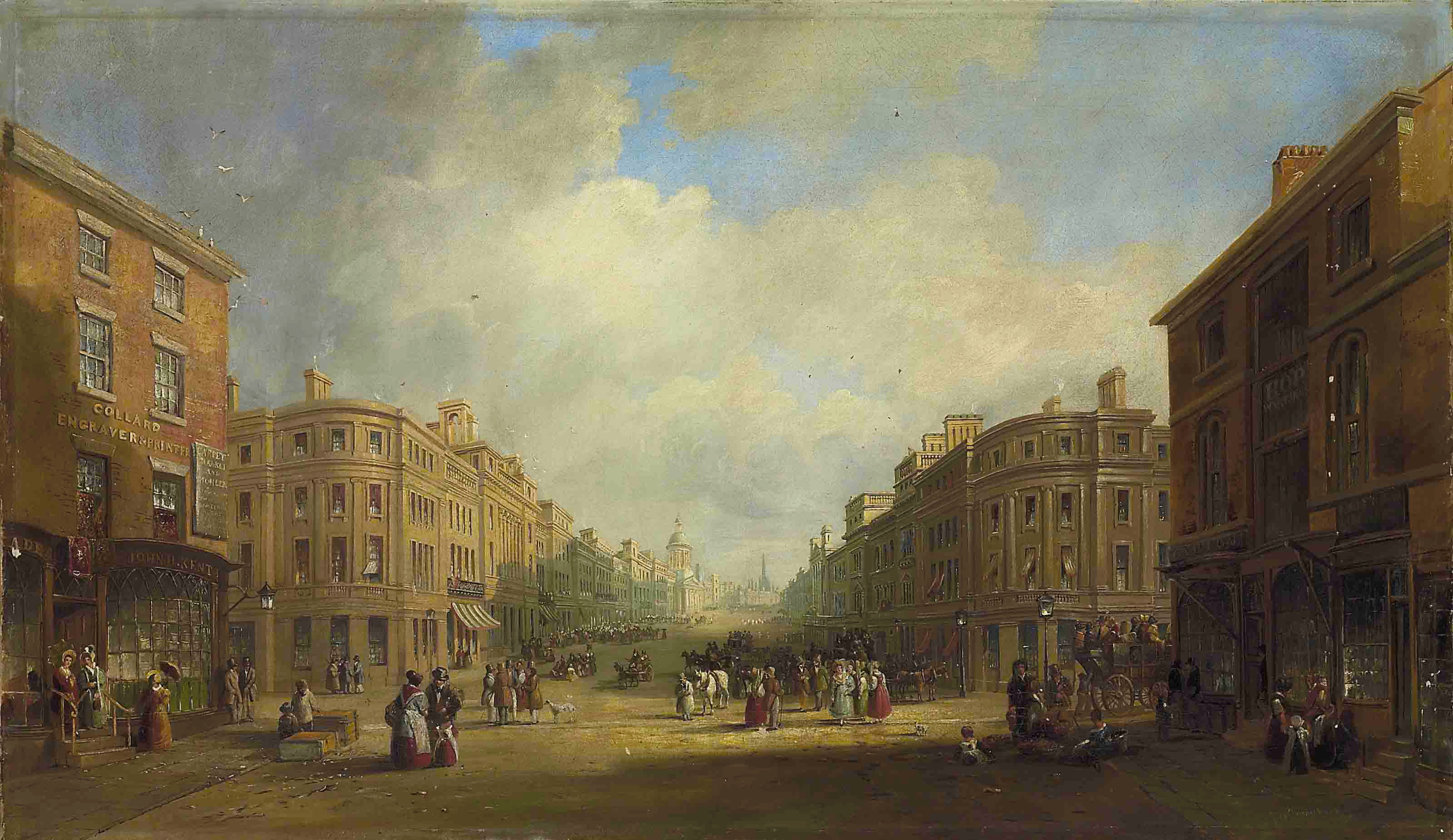 John Wilson Carmichael, 'Proposed new street for Newcastle', 1831. Purchased with the aid of a grant from the MLA/V&A Purchase Grant Fund, 2010.