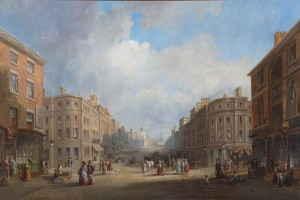 John Wilson Carmichael, 'Proposed new street for Newcastle', 1831. Purchased with the aid of a grant from the MLA/V&A Purchase Grant Fund, 2010
