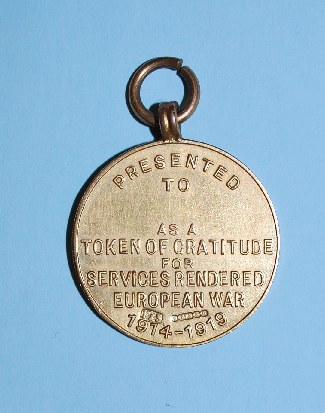 Reverse of Welcome Home Medal