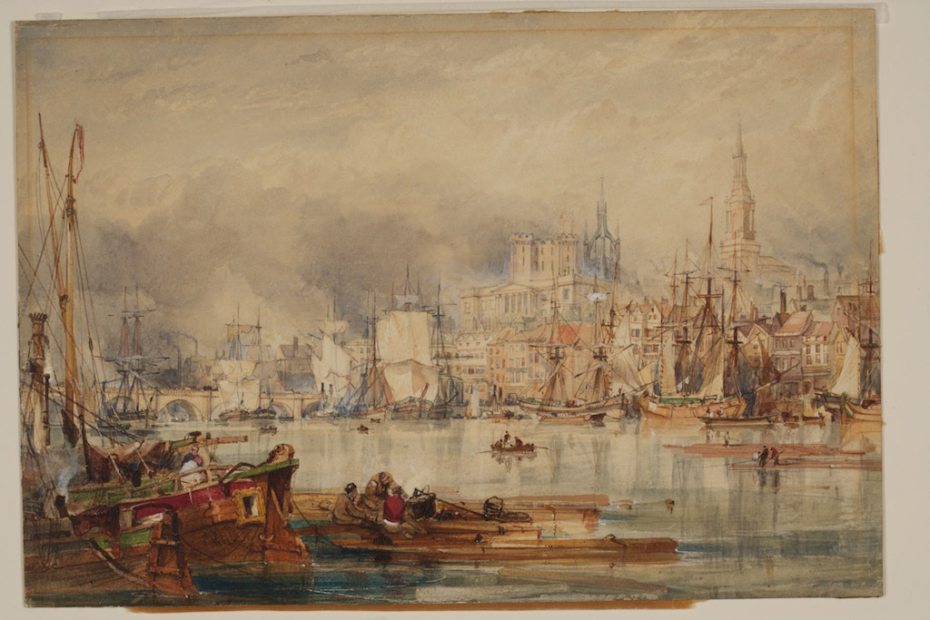Drawing entitled Newcastle upon Tyne, by the artist George Balmer, 1835 (c)