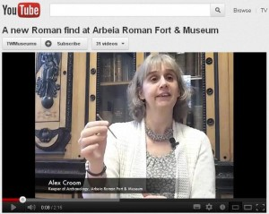 Arbeia Roman Fort short film about a Roman hair pin
