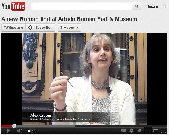 Arbeia Roman Fort short film about a Roman hair pin