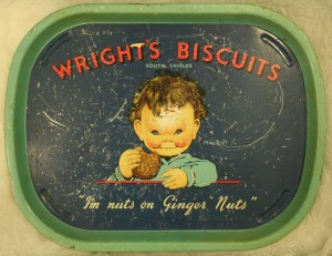 Wright's Biscuits advertising tray