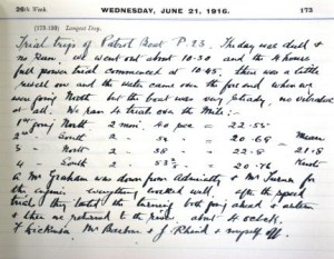 William Bartram - Diary Entry for June 21st 1916