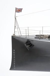 Ram bow of model of P28