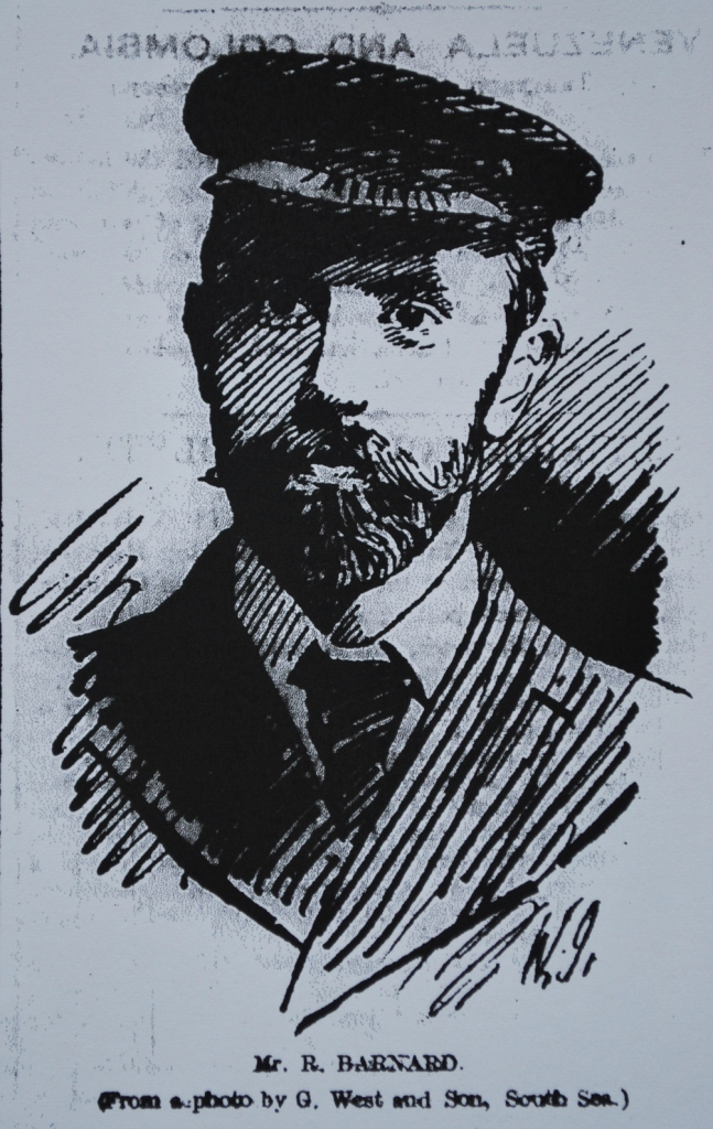 Drawing of Robert Barnard from a photograph by G West of Southsea