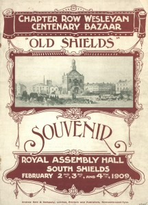 Front cover of Chapter Row Wesleyan Centenary Bazaar programme, 2-4 February 1909 (TWAM ref. 1096/163)