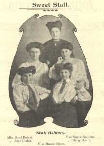 Sweet Stall holders, High West Street Wesleyan Methodist Church, 1907 (TWAM ref. C.GA7/37/3)