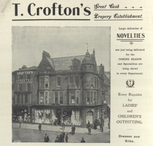 Advert for Crofton's Department Store, King Street and Market Place, South Shields, 1909 (TWAM ref. 1096/163)