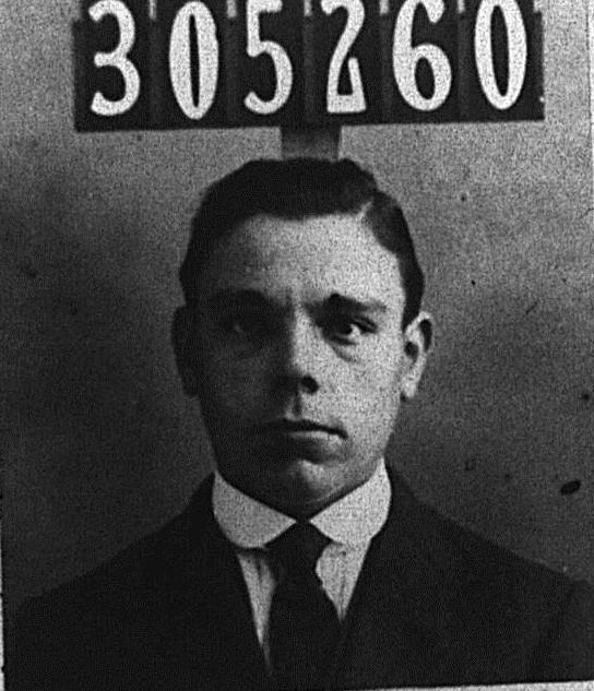 Photograph of Edward Joseph Hatfield on his C.R.10 identity card