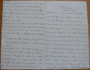 A letter by Robert Spence Watson about a lecture on Joseph Swan's lightbulb