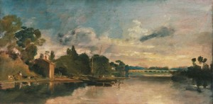 Joseph Mallord William Turner : The Thames Near Walton Bridges, 1805 © Tate 2013