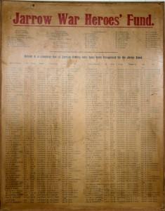 The Jarrow War Heroes' Fund poster, c1920 (TWAM ref. T27)